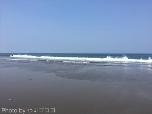 波崎海水浴場では駐車場無料!広い砂浜のキレイな海だったよ